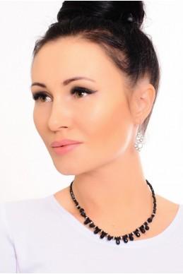 Колье  4021 черного цвета - женская одежда, бижутерия оптом. Фото - look-and-buy.com
