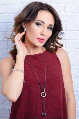 Колье 4044 - женская одежда, бижутерия оптом. Фото - look-and-buy.com