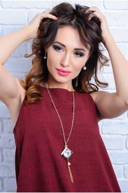 Колье 4047 - женская одежда, бижутерия оптом. Фото - look-and-buy.com