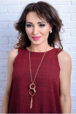 Колье 4048 - женская одежда, бижутерия оптом. Фото - look-and-buy.com