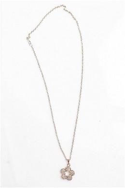 Цепочка с кулоном цветочек 4010 позолота - женская одежда, бижутерия оптом. Фото - look-and-buy.com