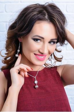 Комплект бижутерии 3017 - женская одежда, бижутерия оптом. Фото - look-and-buy.com