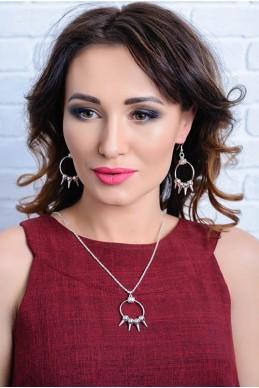 Комплект бижутерии 3018 - женская одежда, бижутерия оптом. Фото - look-and-buy.com