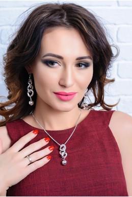 Набор подвеска + серьги 3019 - женская одежда, бижутерия оптом. Фото - look-and-buy.com