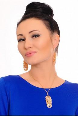 Комплект бижутерии 3001 - женская одежда, бижутерия оптом. Фото - look-and-buy.com