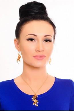 Комплект бижутерии 3004 - женская одежда, бижутерия оптом. Фото - look-and-buy.com