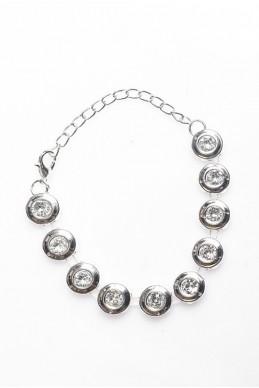 """Браслет """"Камень"""", серебро - женская одежда, бижутерия оптом. Фото - look-and-buy.com"""