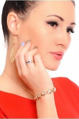"""Браслет """"Камень"""", золото - женская одежда, бижутерия оптом. Фото - look-and-buy.com"""