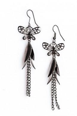Серьги 2013 в форме бабочки - женская одежда, бижутерия оптом. Фото - look-and-buy.com