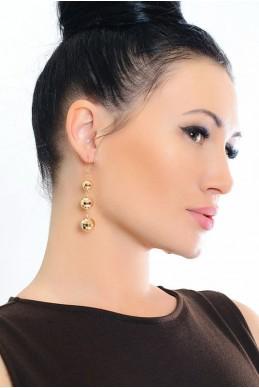 Серьги-сферы 2014 - женская одежда, бижутерия оптом. Фото - look-and-buy.com