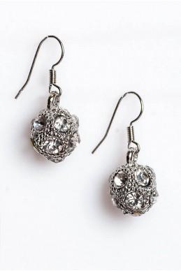 Серьги 2015 серебро - женская одежда, бижутерия оптом. Фото - look-and-buy.com