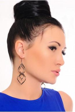 Серьги 2021 - женская одежда, бижутерия оптом. Фото - look-and-buy.com