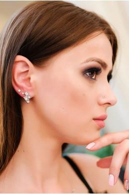 Набор сережек-пусетов 2024  - женская одежда, бижутерия оптом. Фото - look-and-buy.com