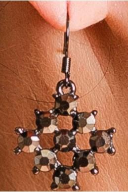 Серьги c камнями 2043 - женская одежда, бижутерия оптом. Фото - look-and-buy.com