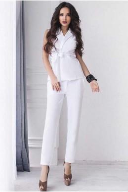 Белый женский костюм Луиза - женская одежда, бижутерия оптом. Фото - look-and-buy.com