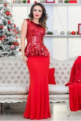 Шикарный красный костюм Франческа - женская одежда, бижутерия оптом. Фото - look-and-buy.com