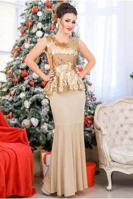 Блестящий золотой костюм Франческа - женская одежда, бижутерия оптом. Фото - look-and-buy.com