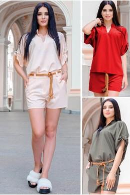 f82d67d388e24b9 Летний костюм Эрнес софт - женская одежда, бижутерия оптом. Фото - look-and