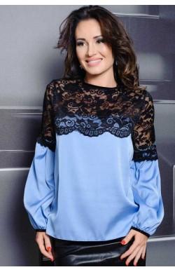 Голубая женская блузка Мери