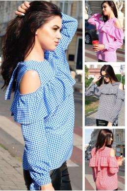 """Блузка с длинным рукавом """"Диамант"""" - женская одежда, бижутерия оптом. Фото - look-and-buy.com"""