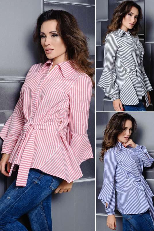 25113e14966 Купить Женская рубашка в полоску Скай