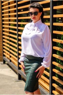 """Белые блузки """"Piano"""" больших размеров - женская одежда, бижутерия оптом. Фото - look-and-buy.com"""