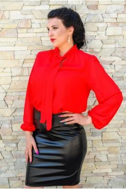 """Красная блуза """"Piano"""" - женская одежда, бижутерия оптом. Фото - look-and-buy.com"""