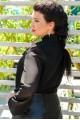"""Черная блузка большого размера """"Piano"""" - женская одежда, бижутерия оптом. Фото - look-and-buy.com"""