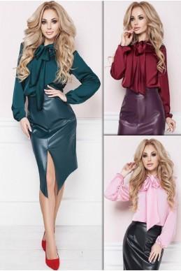 Шелковая женская блузка Эмилия  - женская одежда, бижутерия оптом. Фото - look-and-buy.com
