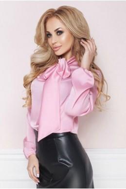 Розовая шелковая блузка  ЭМИЛИЯ  - женская одежда, бижутерия оптом. Фото - look-and-buy.com