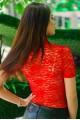 """Красный гольф """"Американка"""" - женская одежда, бижутерия оптом. Фото - look-and-buy.com"""
