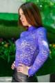 """Кружевной гольф """"Гипюр"""", электрик - женская одежда, бижутерия оптом. Фото - look-and-buy.com"""