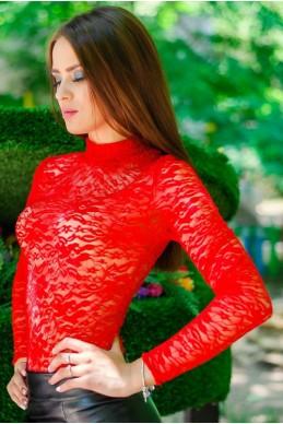 """Красный гольф """"Гипюр"""" - женская одежда, бижутерия оптом. Фото - look-and-buy.com"""