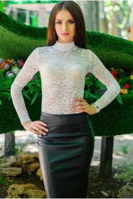 """Кружевной гольф """"Гипюр"""", белый - женская одежда, бижутерия оптом. Фото - look-and-buy.com"""