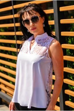 """Белые шелковые блузки """"Katty""""  - женская одежда, бижутерия оптом. Фото - look-and-buy.com"""