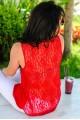 """Красная блузка с кружевом """"Katty - женская одежда, бижутерия оптом. Фото - look-and-buy.com"""