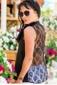 """Черная шелковые блузка """"Katty""""  - женская одежда, бижутерия оптом. Фото - look-and-buy.com"""