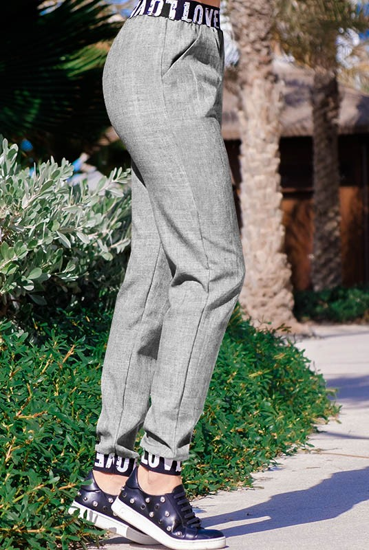 4079d17dfe23 Купить молодежные брюки Картье | Серые | Льняные