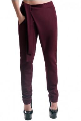 """Женские стильные брюки """"Вашингтон"""", бордовый - женская одежда, бижутерия оптом. Фото - look-and-buy.com"""