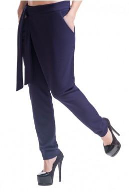 """Темно-синие женские брюки """"Вашингтон"""" - женская одежда, бижутерия оптом. Фото - look-and-buy.com"""