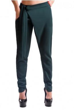 """Модные женские брюки """"Вашингтон"""", изумрудный - женская одежда, бижутерия оптом. Фото - look-and-buy.com"""