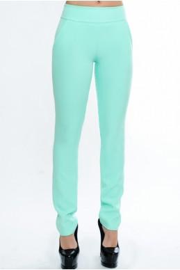"""Летние женские брюки """"Classic"""",  ментол - женская одежда, бижутерия оптом. Фото - look-and-buy.com"""