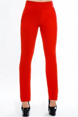 """Красные женские брюки """"Classic"""" - женская одежда, бижутерия оптом. Фото - look-and-buy.com"""