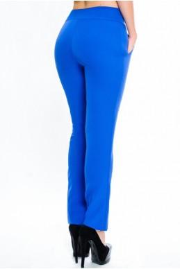 """Обтягивающие брюки """"Classic"""",  электрик - женская одежда, бижутерия оптом. Фото - look-and-buy.com"""