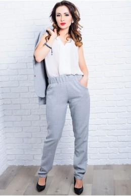 Серые летние женские брюки  Крит  - женская одежда, бижутерия оптом. Фото - look-and-buy.com
