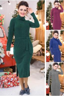 Повседневное теплое платье Мария - женская одежда, бижутерия оптом. Фото - look-and-buy.com
