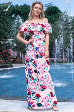 5891945e7f4b3f7 Розовое летнее платье