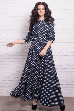 8934d6d1e63 Женское платье Ванесса в горошек - женская одежда