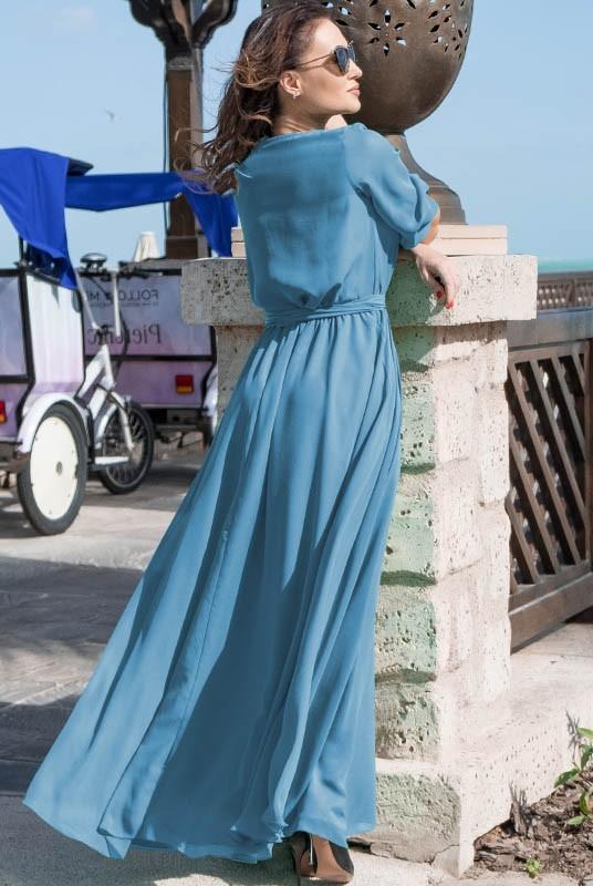 59a636859b8ad60 Голубое легкое платье Инесса | В греческом стиле