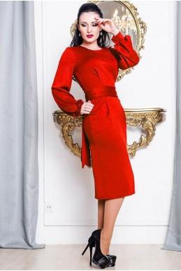 """Женское платье """"DIOR"""" красное - женская одежда, бижутерия оптом. Фото - look-and-buy.com"""
